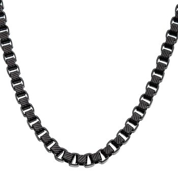Stainless Steel 5.5mm Black Plated Round Box Chain Necklace