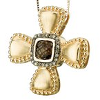 Tesoro Smoky Quartz Cross Pendant