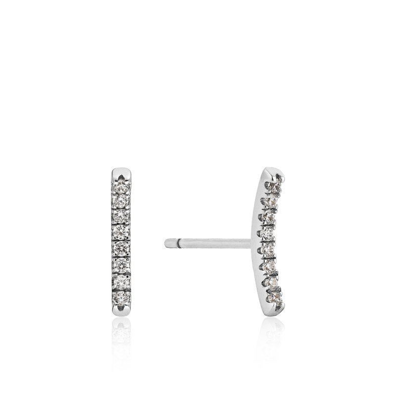 Ania Haie Shimmer Pavé Bar Stud Earrings