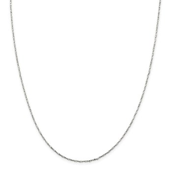 Sterling Silver 1.2mm Twisted Serpentine Chain