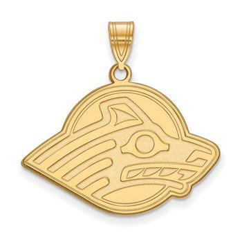 Gold-Plated Sterling Silver University of Alaska NCAA Pendant