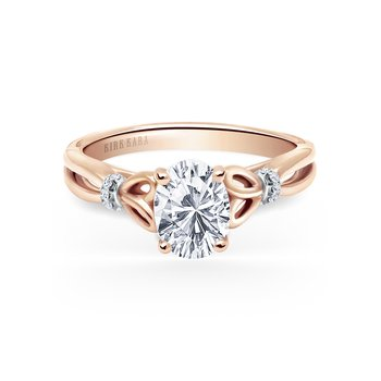 Kirk Kara 18K Rose Gold Diamond Bow Engagement Ring