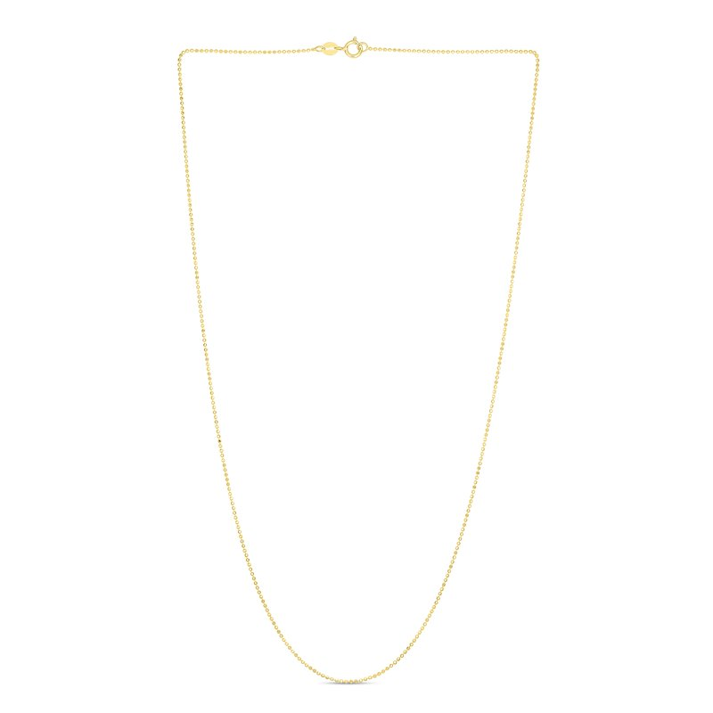 Royal Chain 14K Gold 1mm Diamond Cut Bead Chain
