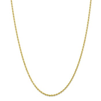10k 2.25mm D/C Quadruple Rope Chain Anklet