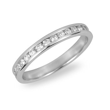 14K WG Diamond Eternity Ring in Channel Setting 3/4 Cts