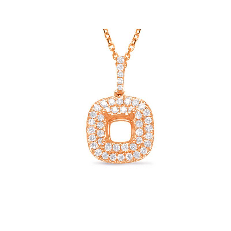 S. Kashi  & Sons Diamond Pendant 1.25ct Cushion Center