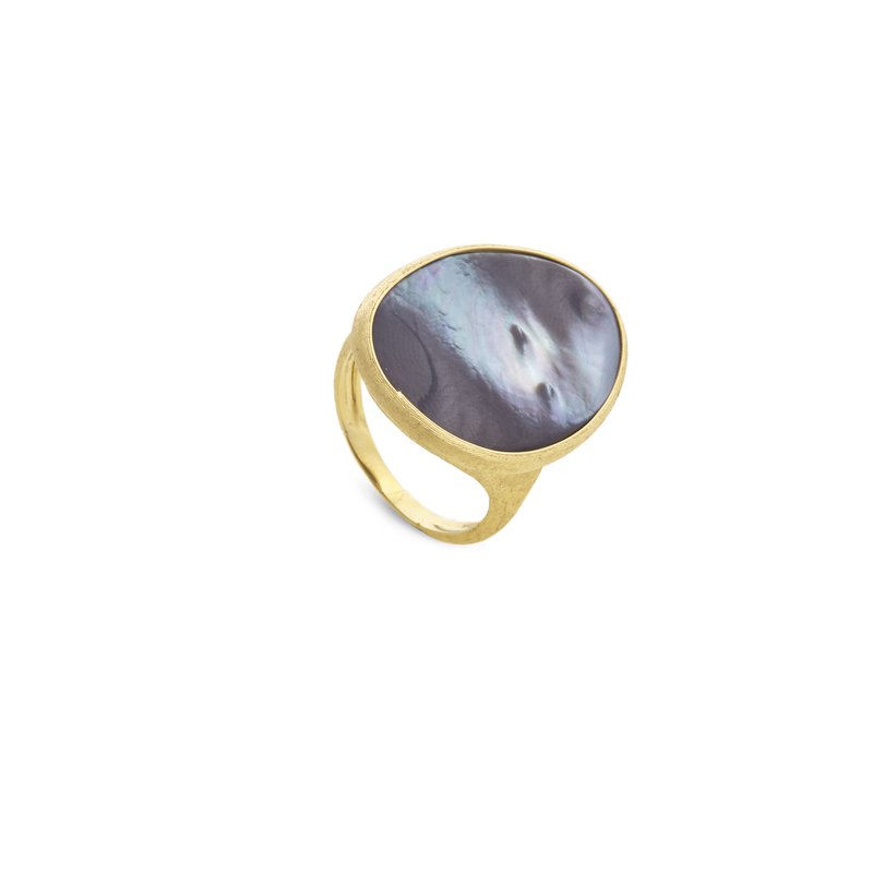 Marco Bicego Lunaria Gold & Black Mother of Pearl Cocktail Ring