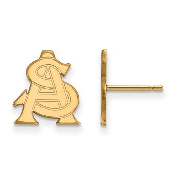 Gold Arizona State University NCAA Earrings