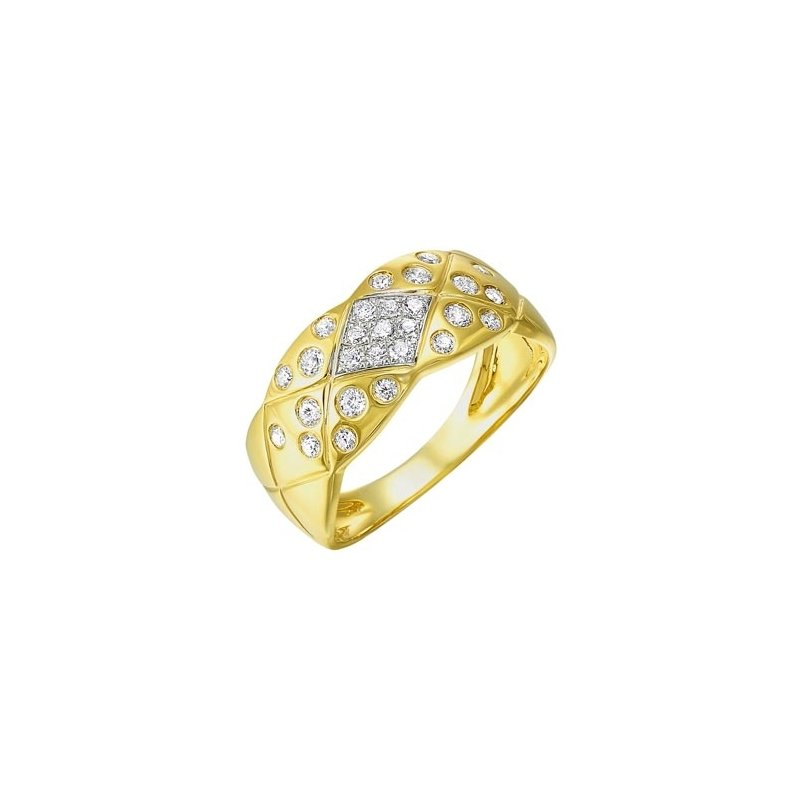 Gems One Diamond Quilted Weave Band in 14k Yellow Gold (1/3ctw)