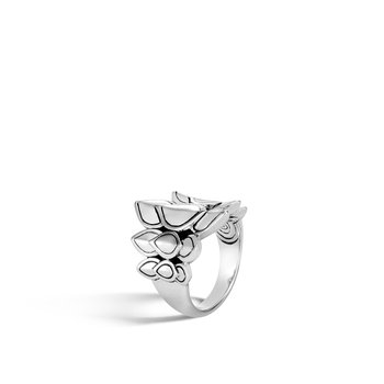 Legends Naga Saddle Ring in Silver