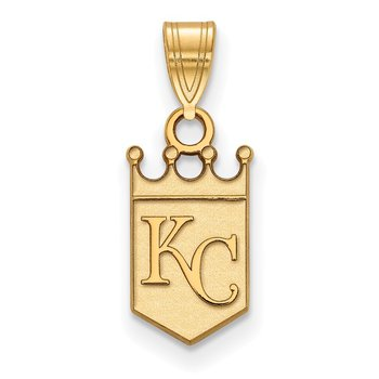 Gold-Plated Sterling Silver Kansas City Royals MLB Pendant