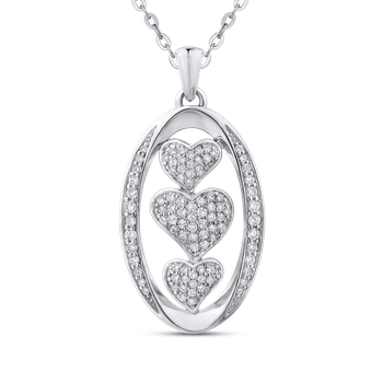 1/2 Ct Diamond Fashion Pendant with Chain