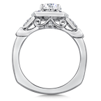 Valina Diamond & Blue Sapphire Engagement Ring Mounting in 14K White Gold (.20 ct. tw.)