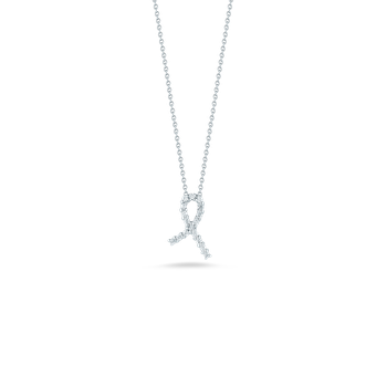 18Kt Gold Hope Ribbon Pendant With Diamonds
