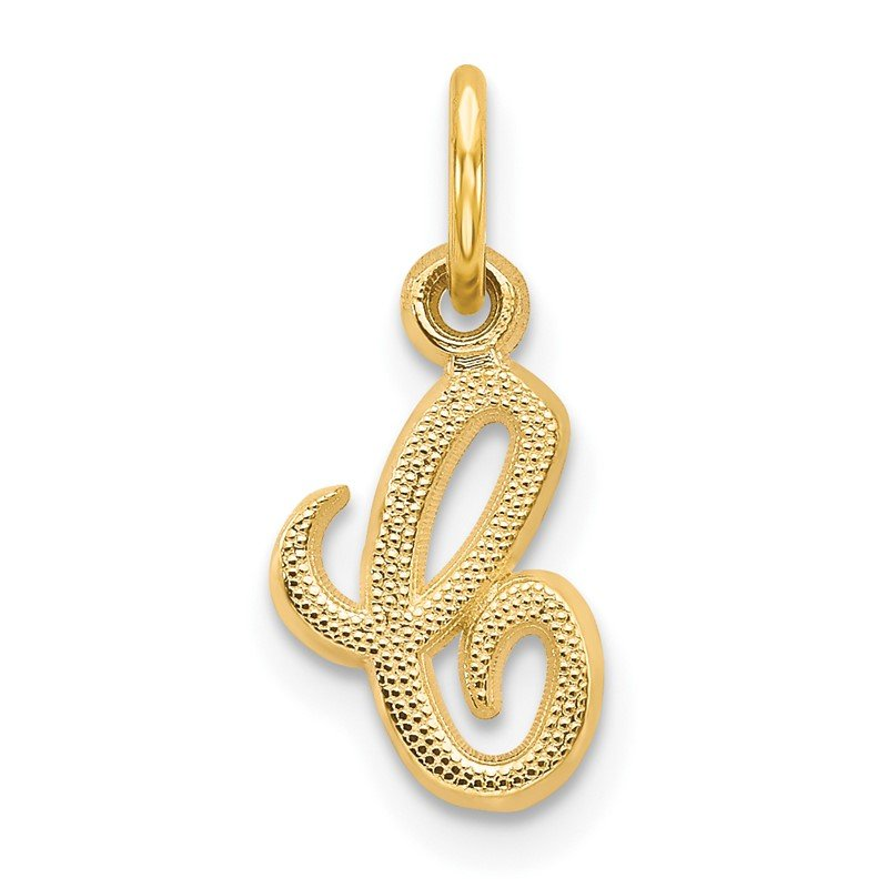 Quality Gold 14KY Script Letter C Initial Charm