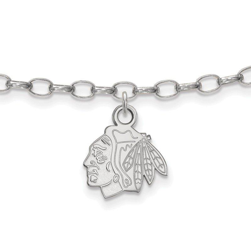 Nhl Sterling Silver Chicago Blackhawks Bracelet