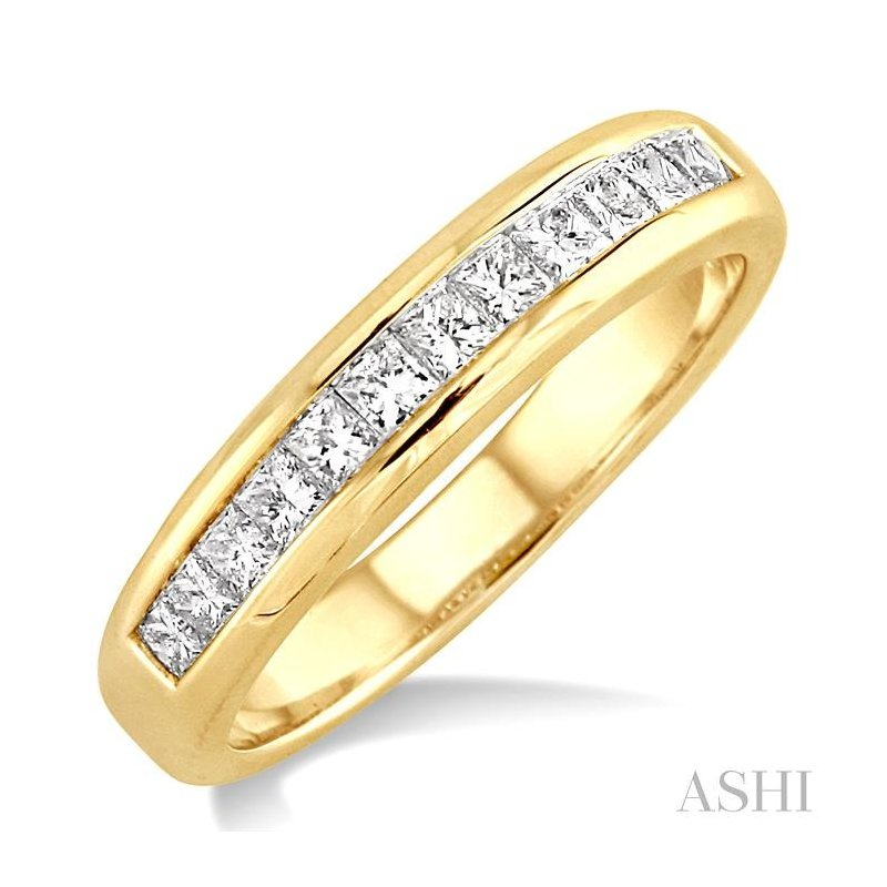 Gemstone Collection channel set diamond wedding band
