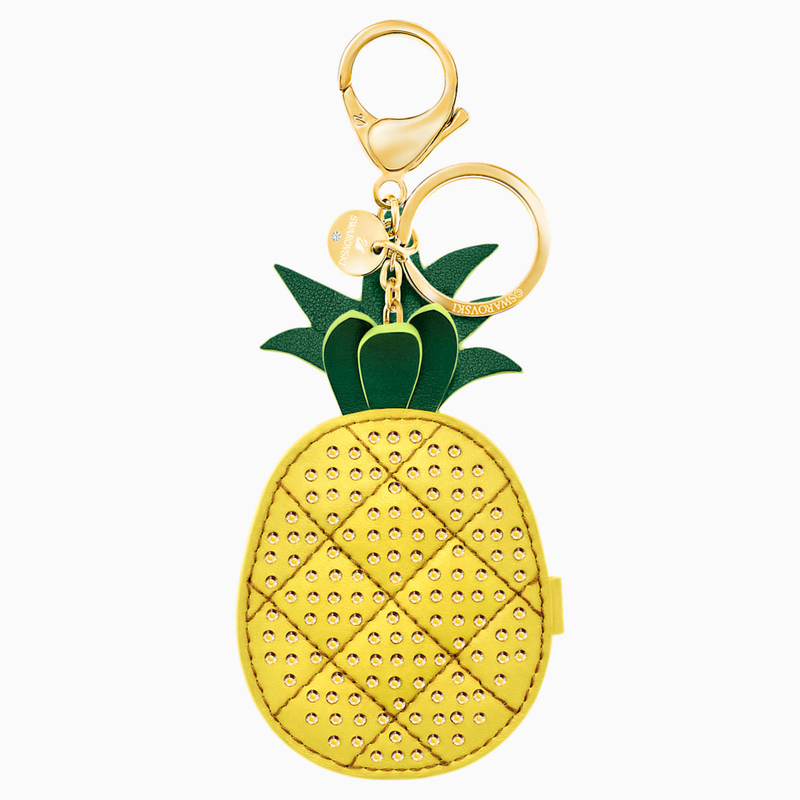 Swarovski Lime Bag Charm, Yellow, Gold plating