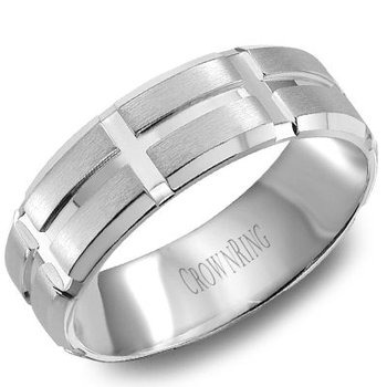 CrownRing Men's Wedding Band WB-8802