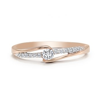 Diamond Ring with Pavé Diamonds