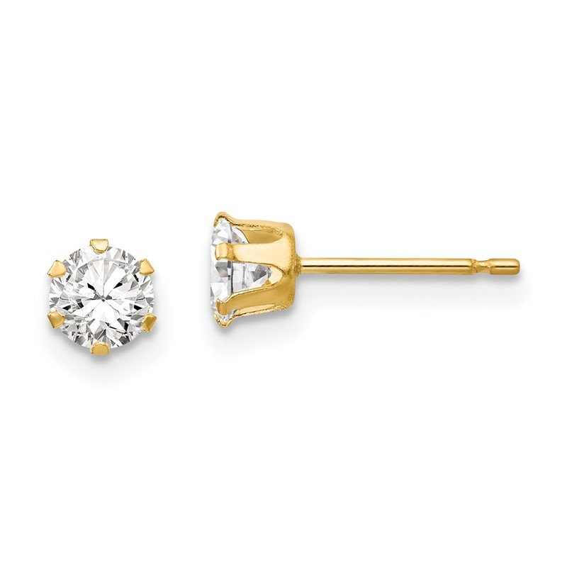 Quality Gold 14k Madi K CZ Stud Post Earrings