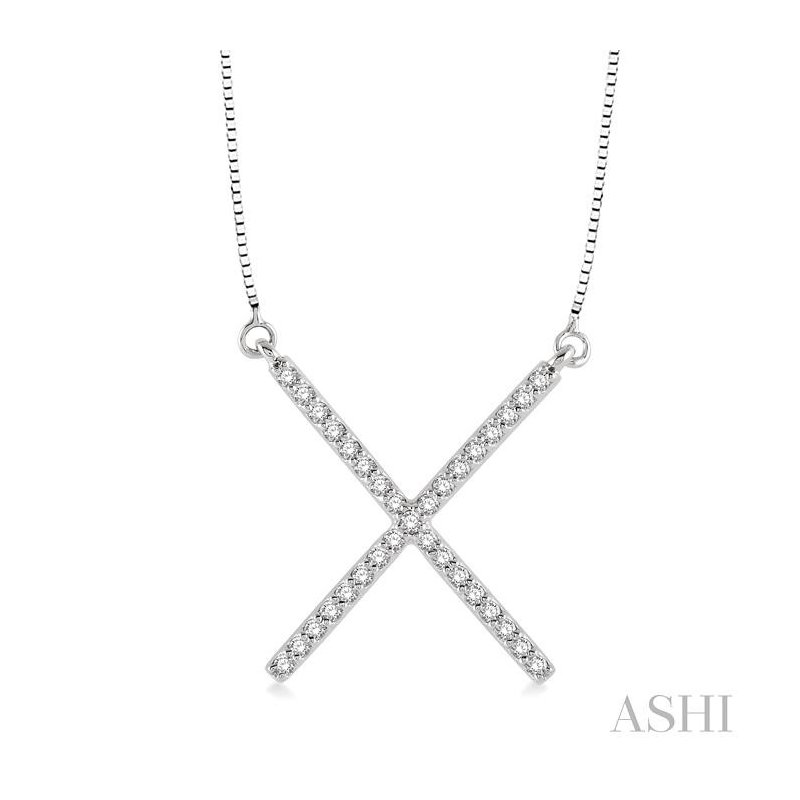 ASHI 'x' shape diamond pendant
