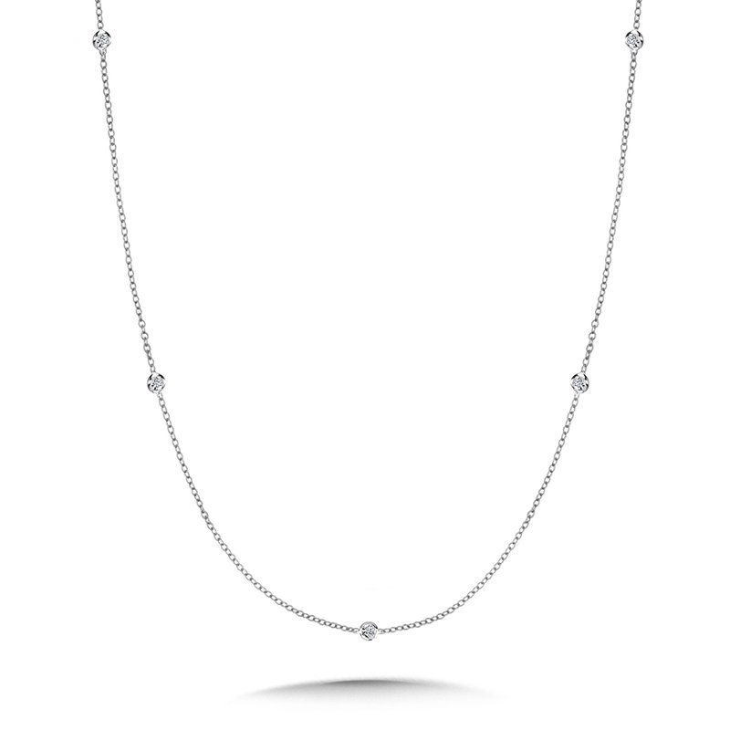 SDC Creations 36 Inch Bezeled Diamond By the Yard Necklace