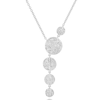 White gold diamond Infinity graduated Y necklace