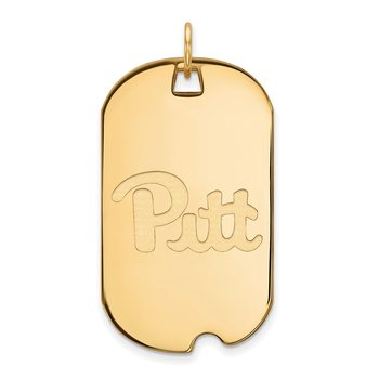 Gold University of Pittsburgh NCAA Pendant