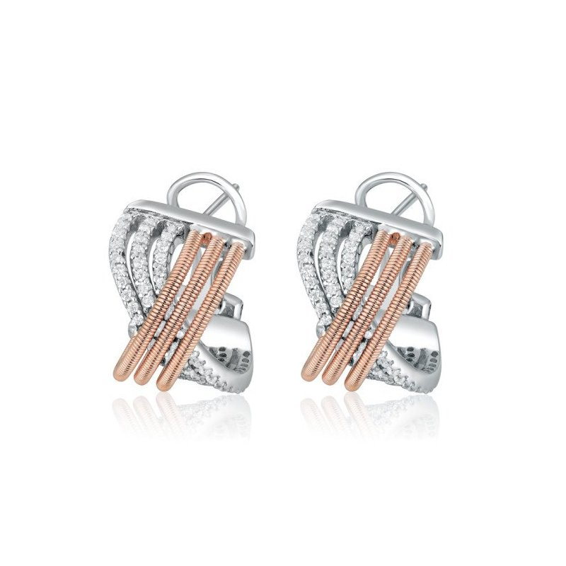LARUS Jewelry Crisscross Earrings