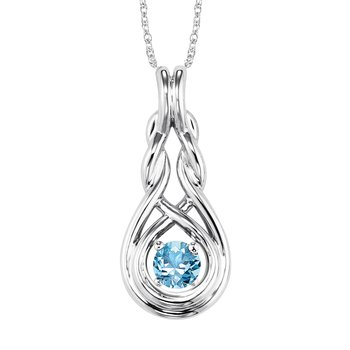 Silver Blue Topaz Pendant ( Available in All Birthstone )