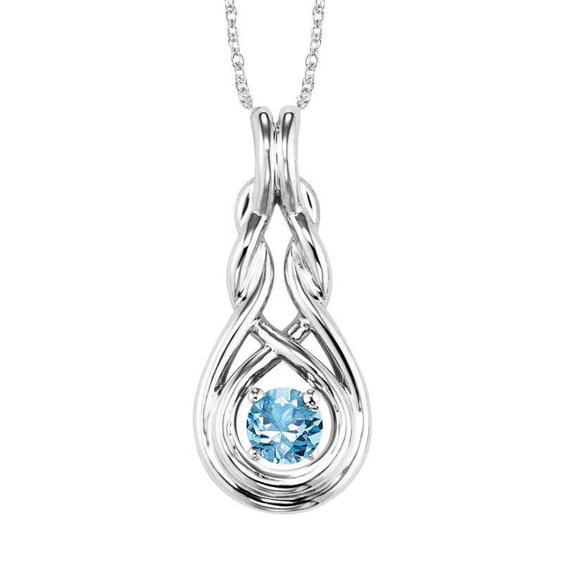 Mixables Silver Blue Topaz Pendant ( Available in All Birthstone )