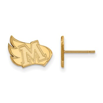 Gold Meredith College NCAA Earrings
