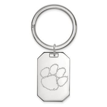 Sterling Silver Clemson University NCAA Key Chain