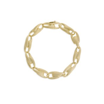 Lucia Yellow Gold Large Link Bracelet
