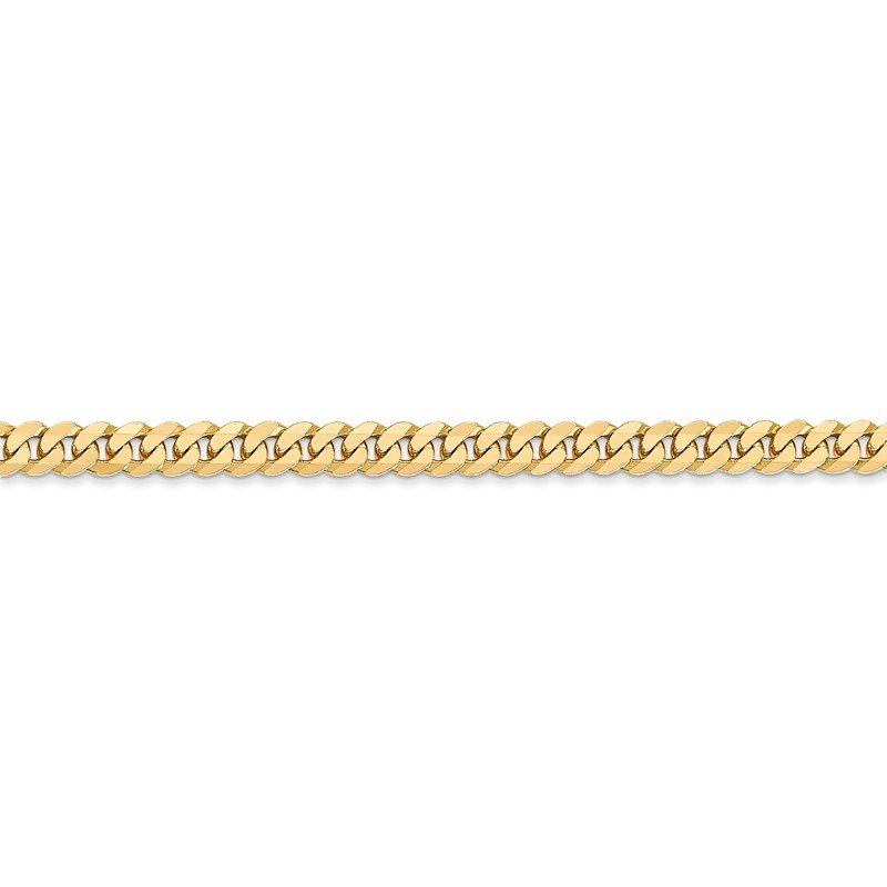 Quality Gold 14k 3.9mm Flat Beveled Curb Chain