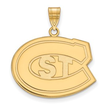 Gold-Plated Sterling Silver St. Cloud State University NCAA Pendant