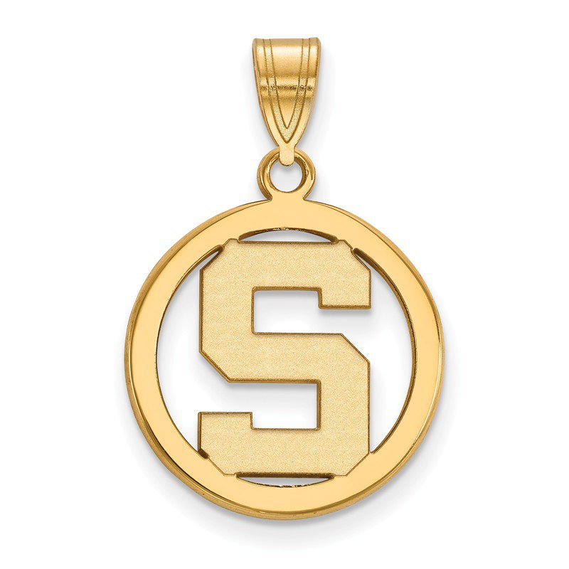 NCAA Gold-Plated Sterling Silver Michigan State University NCAA Pendant