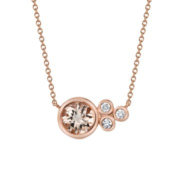 MARS 27255 Pendant Necklace, 0.08 Dia, 0.69 Morganite