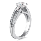 Valina Diamond Engagement Ring Mounting in 14K White Gold with Platinum Head (.51 ct. tw.)