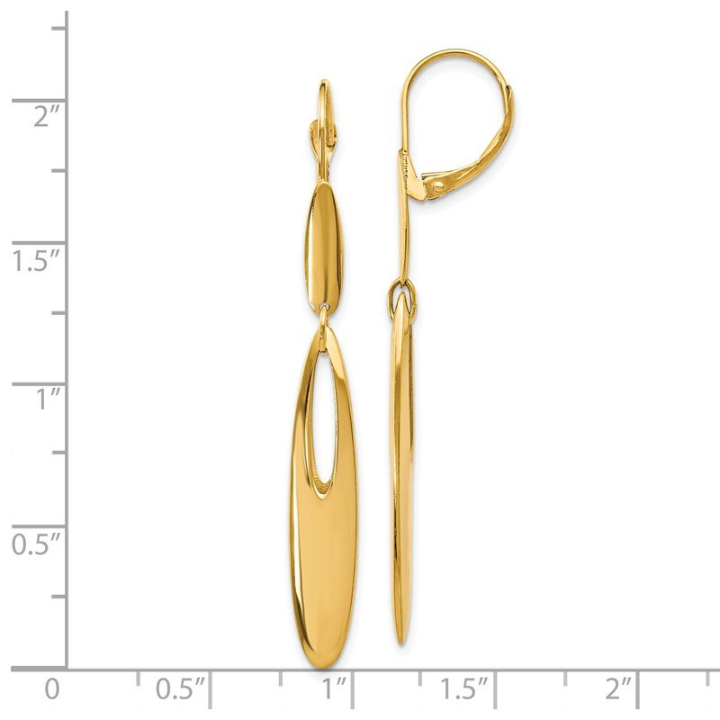Leslie's Leslie's 14K Polished Leverback Dangle Earrings