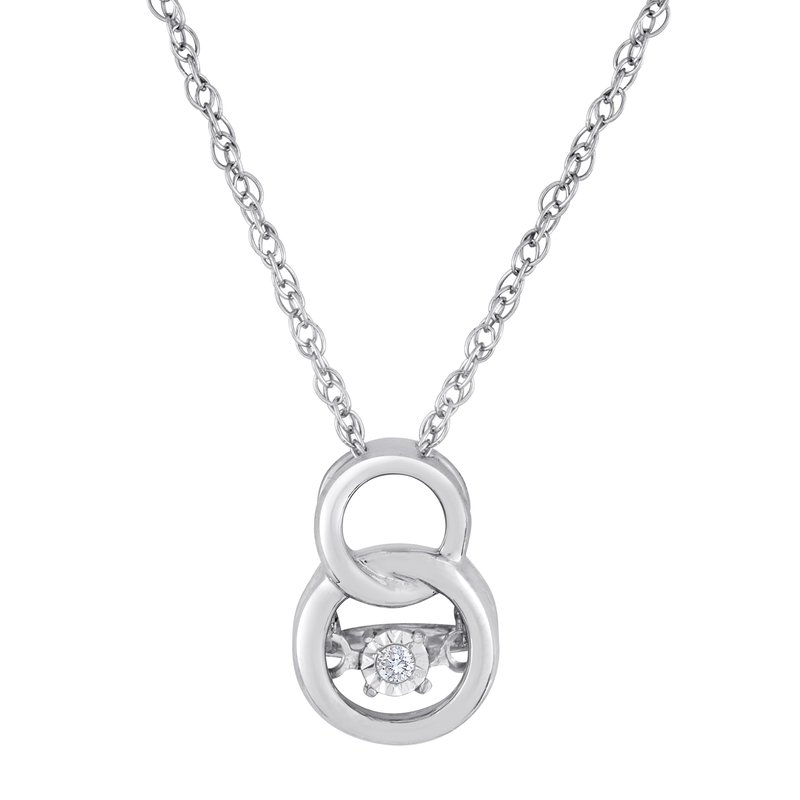 Heartbeat Collection   SILVER 0.01CTW HEARTBEAT WITH MIRACLE PLATE PENDANT