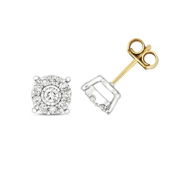 Diamond Brilliant Illusion Studs