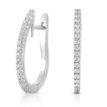 White Gold 25mm Hoop Earring