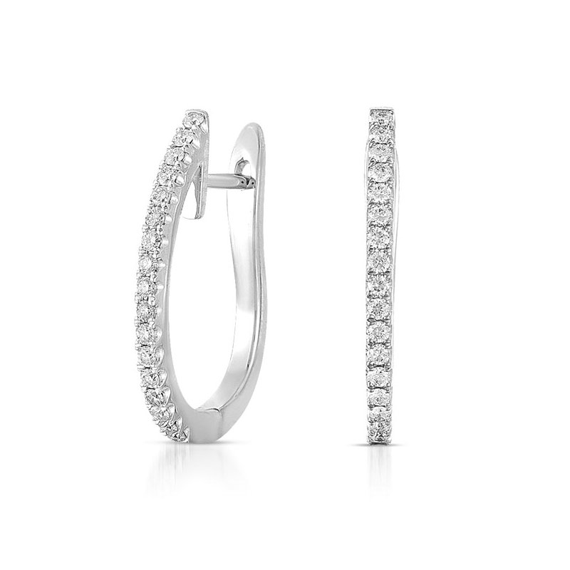 S. Kashi  & Sons White Gold 25mm Hoop Earring
