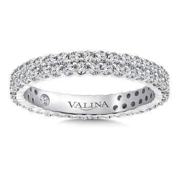 Valina Eternity Band (Size 6.5) in 14K White Gold (1.04ct. tw.)