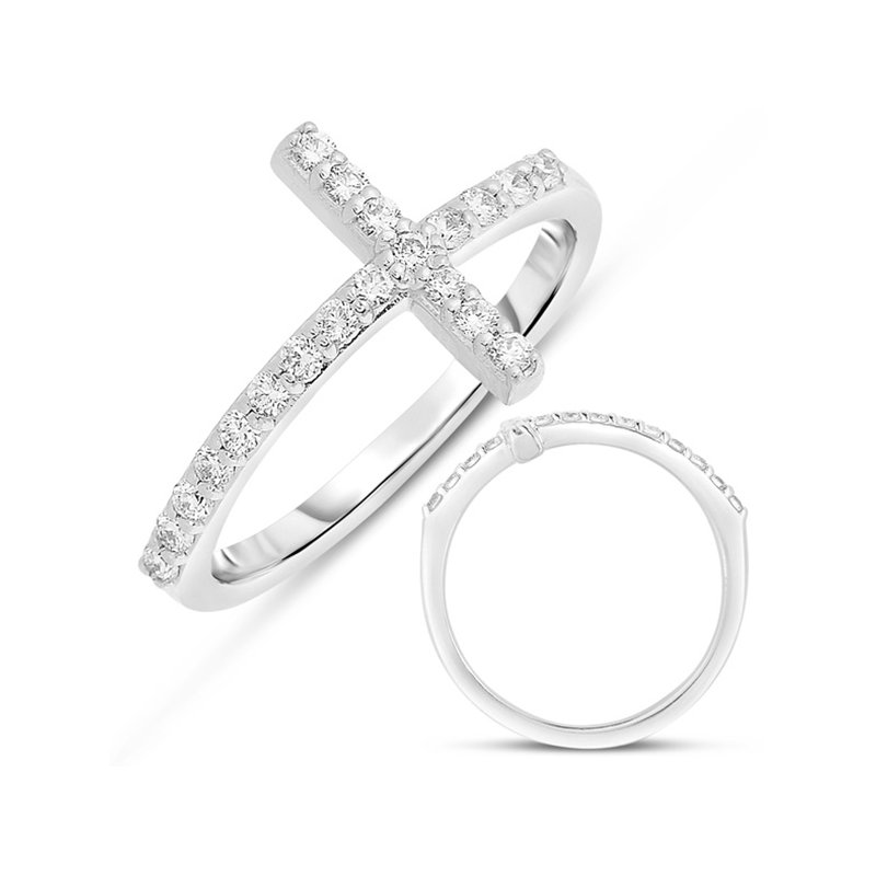 S. Kashi  & Sons White Gold Cross Ring  2.0mm