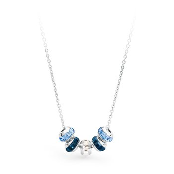 316L stainless steel, light sapphire, blue montana and white Swarovski® Elements.