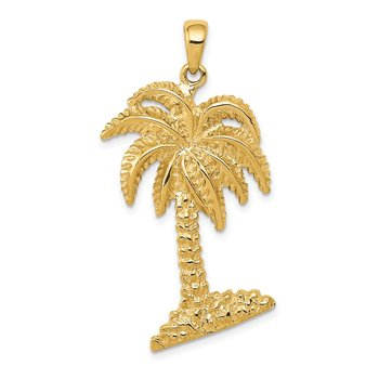 14K Large Palm Tree Pendant