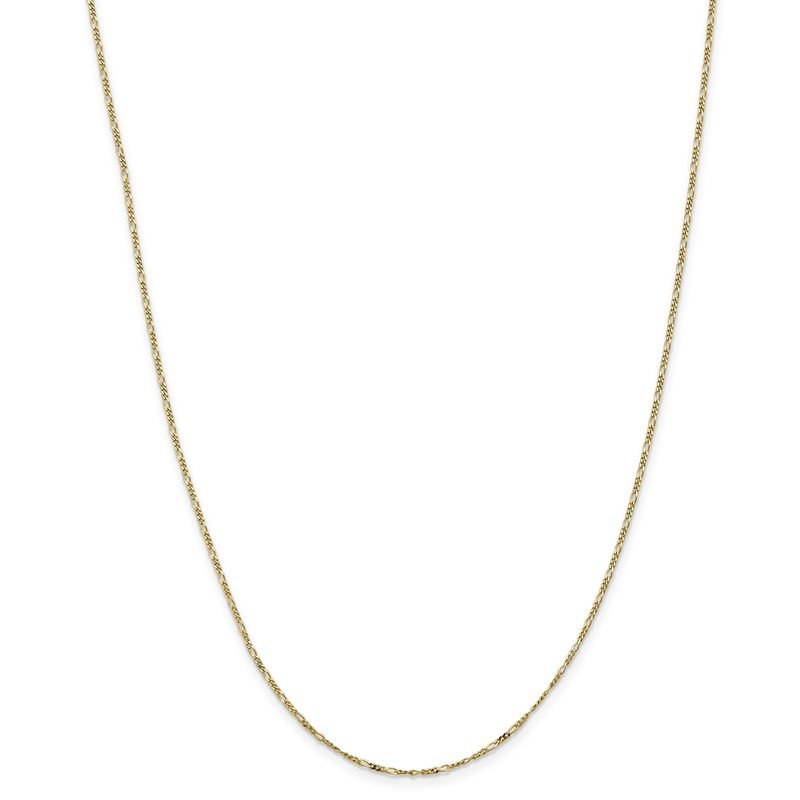 Quality Gold 10k 1.25mm Flat Figaro Pendant Chain